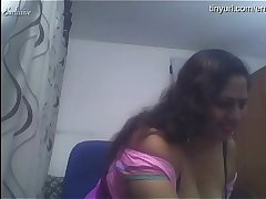 Indian Milf Aunty anal fucking on cam. Takes Big dildo in ass. Register for free and watch her live shows free at   https://tinyurl.com/enjoycam